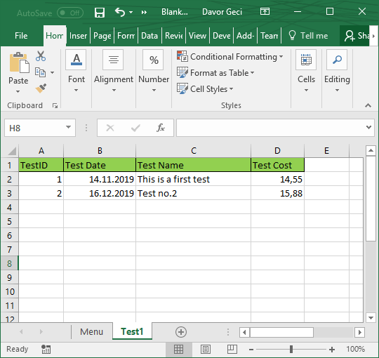 Excel Data Entry Form Template