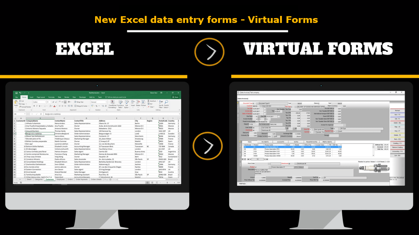 virtual forms enables you to create simple as well as advanced professional excel data entry form or userforms for microsoft excel or any other microsoft
