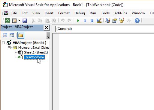 Excel VBA Workbook Module